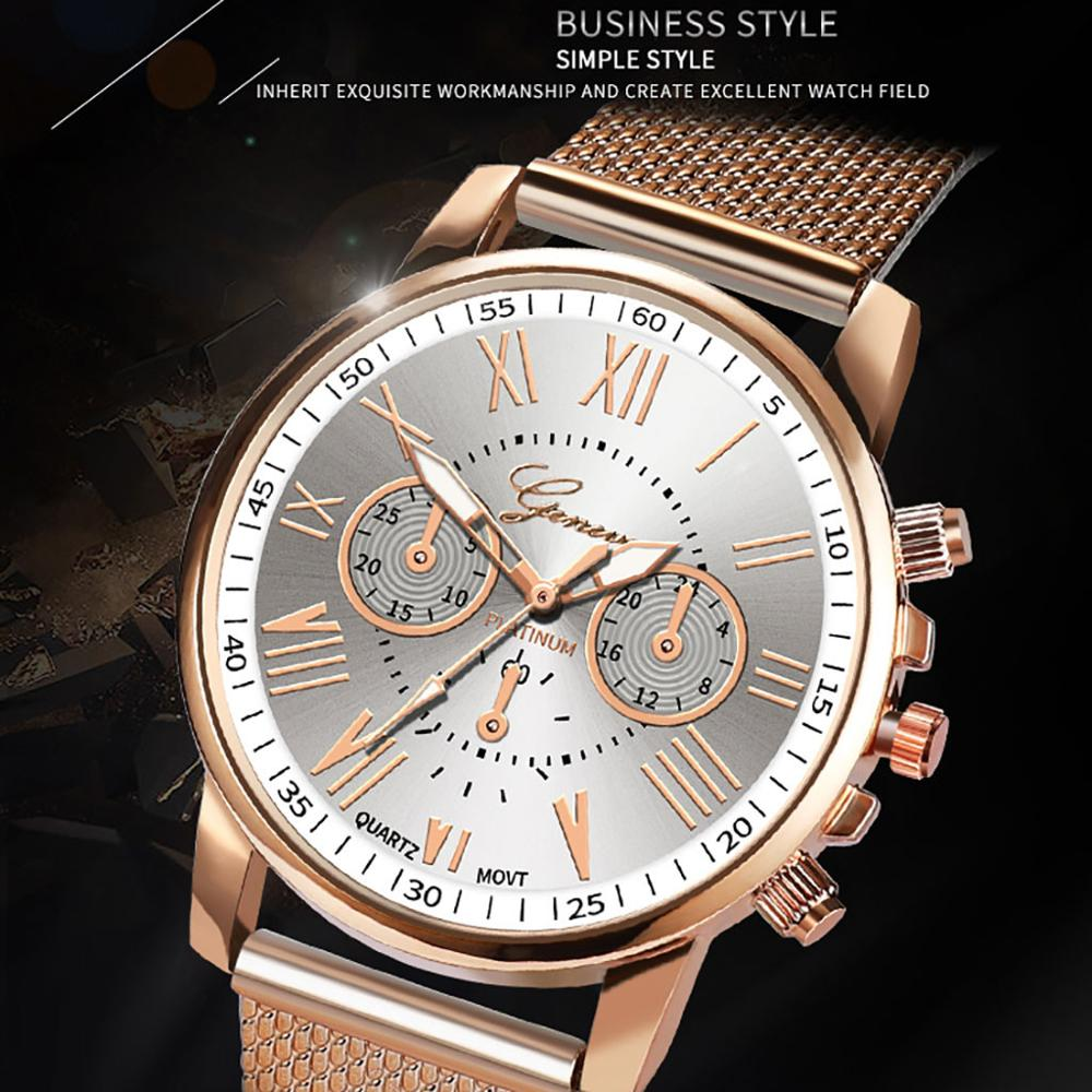 Bussiness Women's Watches Fashion Geneva Brand Roman Numeral Simple Clock Kol Saati Montre Femme Relogio Feminino Reloj Mujer@50
