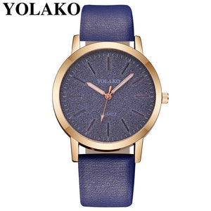 2019 Top Brand High Quality Fashion Womens Ladies Simple Watches Geneva Faux Leather Analog Quartz Wrist Watch clock saat Gift Q