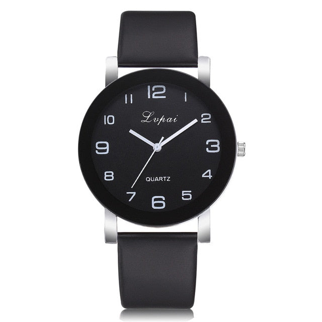 2018 New Famous Brand Women Simple Fashion Leather Band Analog Quartz Round Wrist Watch Watches relogio feminino clock #D