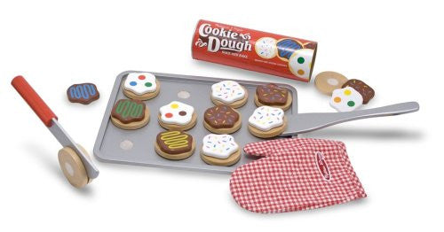 Wooden Slice & Bake Cookie Set