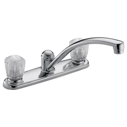 #DEL2102LF - Delta Two Handle Kitchen Faucet Less/spray