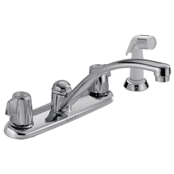 #DEL2400LF - Delta Two Handle Kitchen Faucet with Spray
