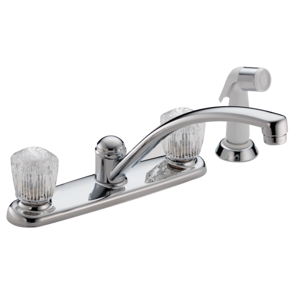 #DEL2402LF - Delta Two Handle Kitchen Faucet with Spray