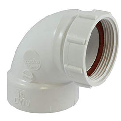 #HC9218 - PVC DWV 1-1/2 90 Sink Strainer Adapter
