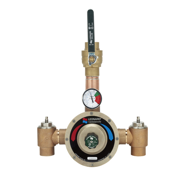 #XL-200-SW-LF-BDT - Lead Free Leonard Single Thermostatic Water HL Master Mixing Valve