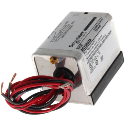 "#AG13A020A - Erie 24V Normally Closed PopTop Actuator w/ 18"" Leads & End Switch"