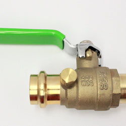 #HC2046D-1/2 Press by Press Ball Valve w/drain