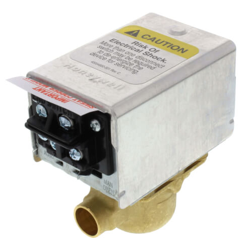 "#V8043F1028 - Honeywell 1/2"" Sweat Zone Valve (Connection = Terminal Block)"