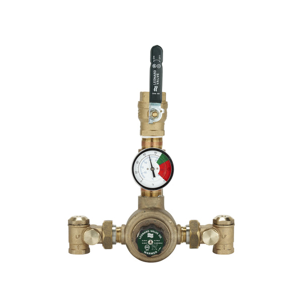 #XL-82-LF-BDT - Lead Free Leonard Single Thermostatic Water HL Master Mixing Valve