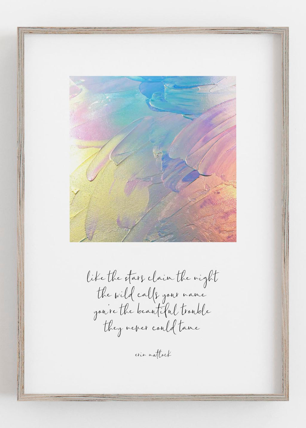 Beautiful Trouble Rainbow Print