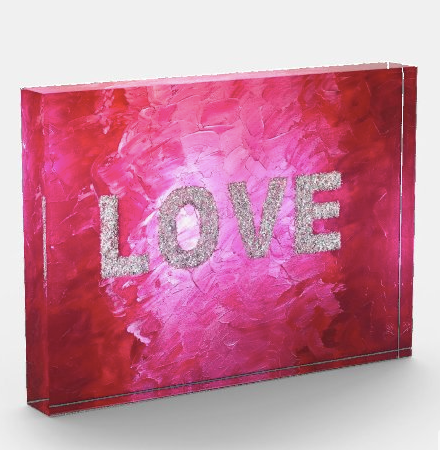 Love Acrylic Art Block