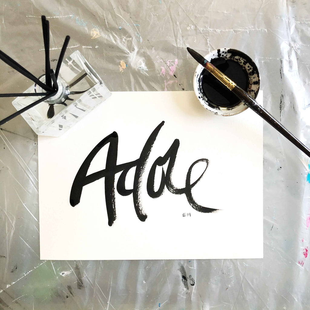 Adore Brush Lettering