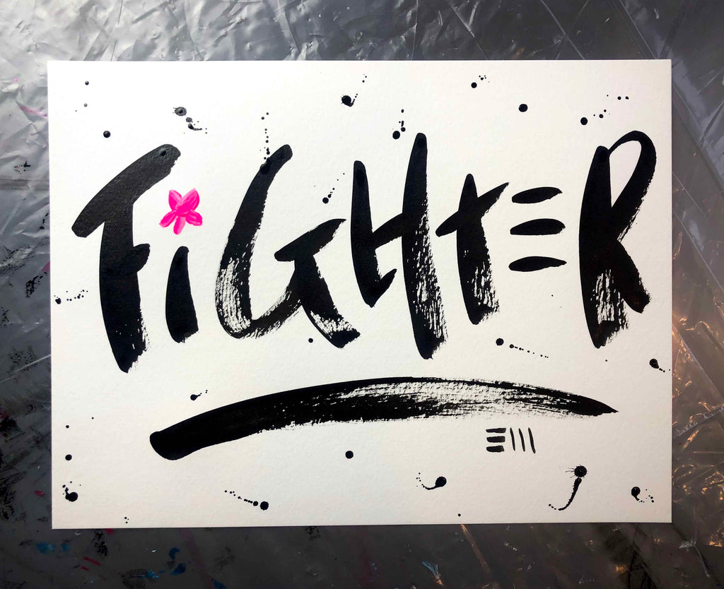 Fighter On White