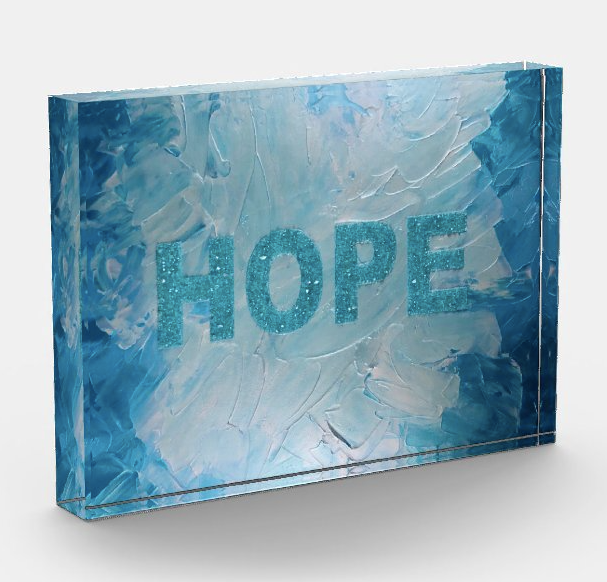 Hope Acrylic Art Block