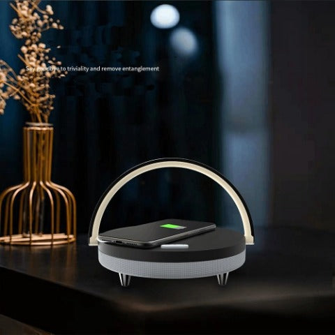 S21 Pro LED Lamp, Wireless Charger & Bluetooth Speaker