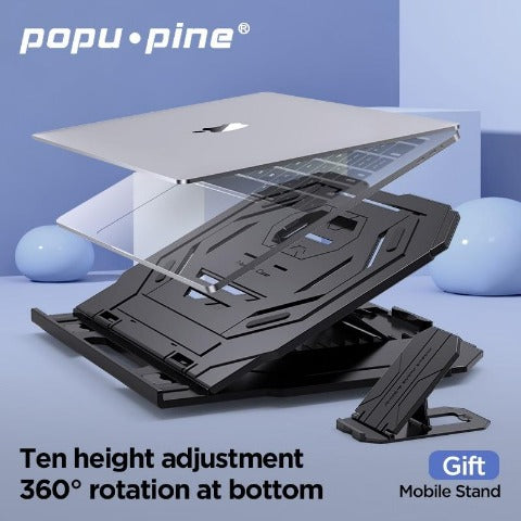 Popu·pine Laptop Stand (Posture Support Design)