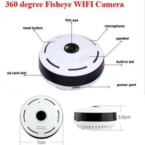 (HD) Panoramic Wireless CCTV IPC Camera
