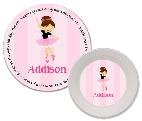 Ballerina Personalized Mealtime Set | 2-Piece