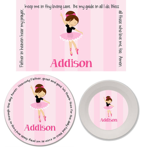 Ballerina Personalized Mealtime Set | 3-Piece