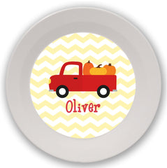 Thanksgiving Pumpkin Truck Personalized Mealtime Set | 2-Piece