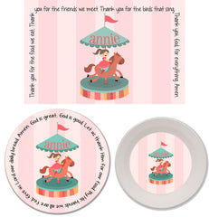 Horse Carousel Personalized Mealtime Set | 3-Piece