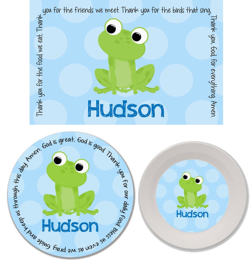 Frog Boy Personalized Mealtime Set | 3-Piece