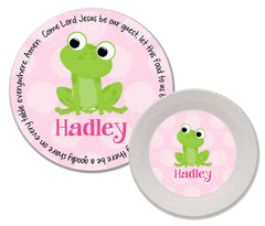 Frog Girl Personalized Mealtime Set | 2-Piece