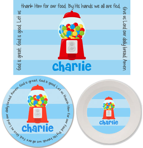 Gumball Boy Personalized Mealtime Set | 3-Piece
