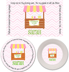 Lemonade Stand Personalized Mealtime Set | 3-Piece