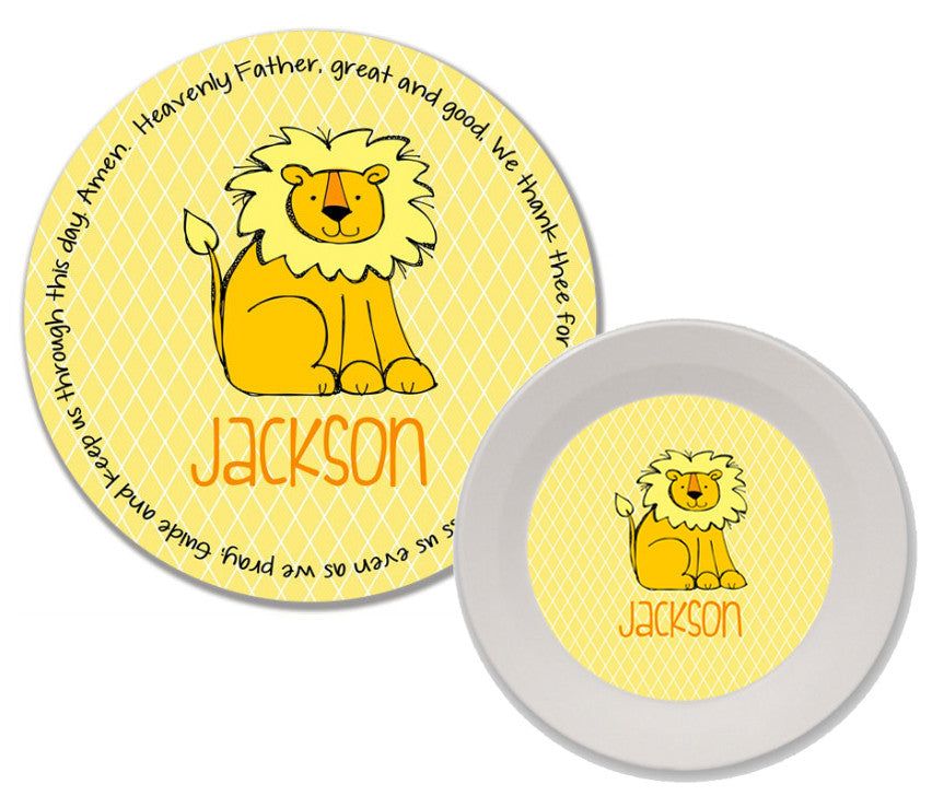 Lion Personalized Mealtime Set | 2-Piece