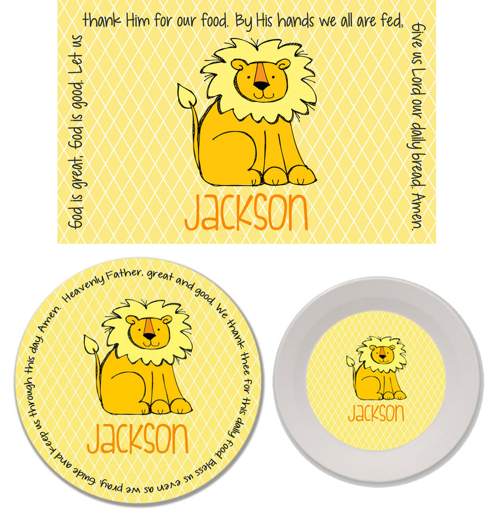 Lion Personalized Mealtime Set | 3-Piece
