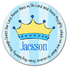 Prince Crown Personalized Kids Melamine Plate
