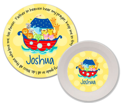 Noah's Ark Primary Personalized Mealtime Set | 2-Piece