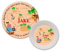 Pirate Personalized Mealtime Set | 2-Piece