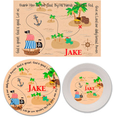 Pirate Personalized Mealtime Set | 3-Piece