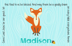 Fox Personalized Kids Placemat