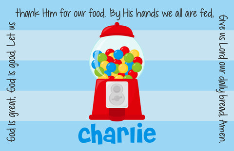 Gumball Boy Personalized Kids Placemat