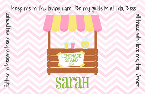 Lemonade Stand Personalized Kids Placemat