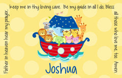 Noah's Ark Primary Personalized Kids Placemat