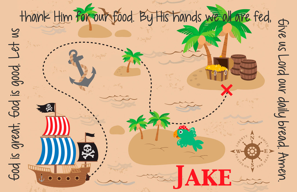 Pirate Personalized Kids Placemat