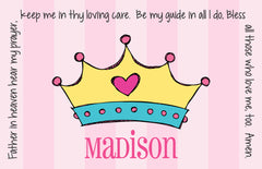 Princess Crown Personalized Kids Placemat