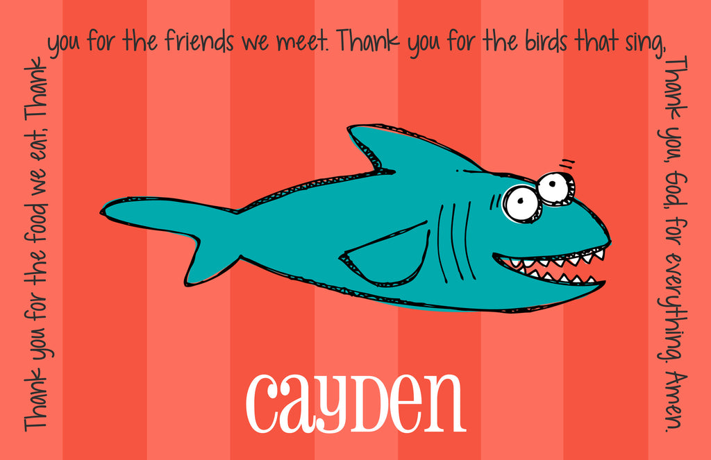 Shark Personalized Kids Placemat