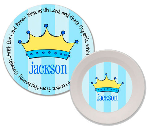 Prince Crown Personalized Mealtime Set | 2-Piece