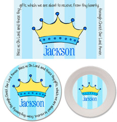 Prince Crown Personalized Mealtime Set | 3-Piece