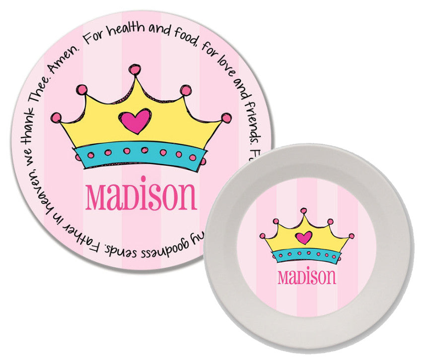 Princess Crown Personalized Mealtime Set | 2-Piece