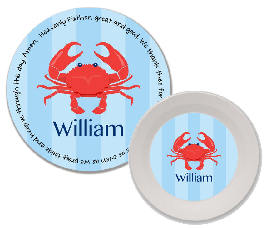 Crab Boy Personalized Mealtime Set | 2-Piece