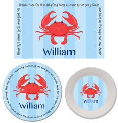 Crab Boy Personalized Mealtime Set | 3-Piece