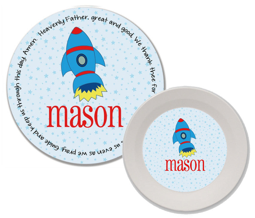 Rocket Personalized Mealtime Set | 2-Piece