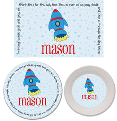 Rocket Personalized Mealtime Set | 3-Piece