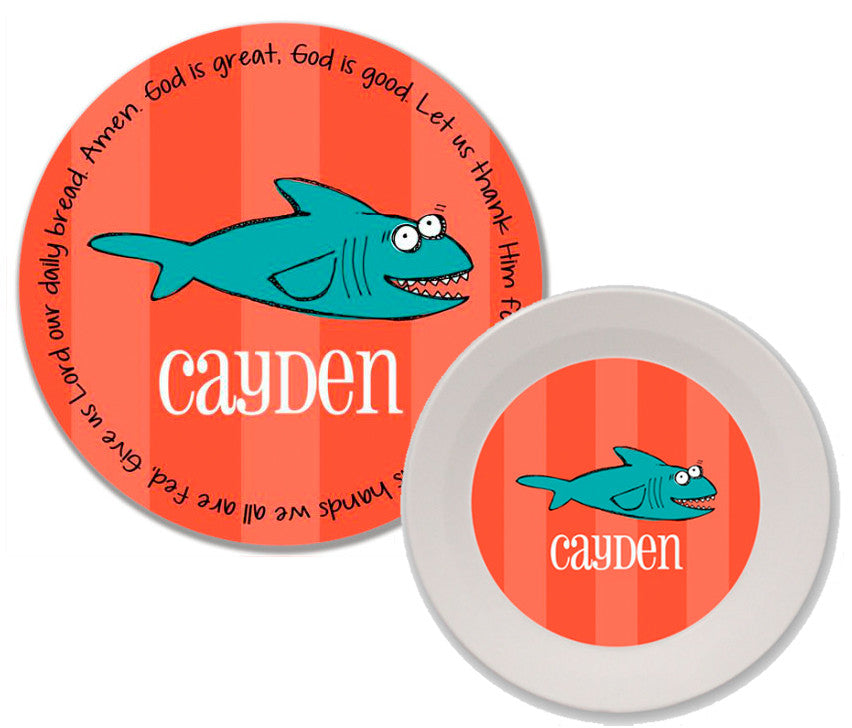 Shark Personalized Mealtime Set | 2-Piece